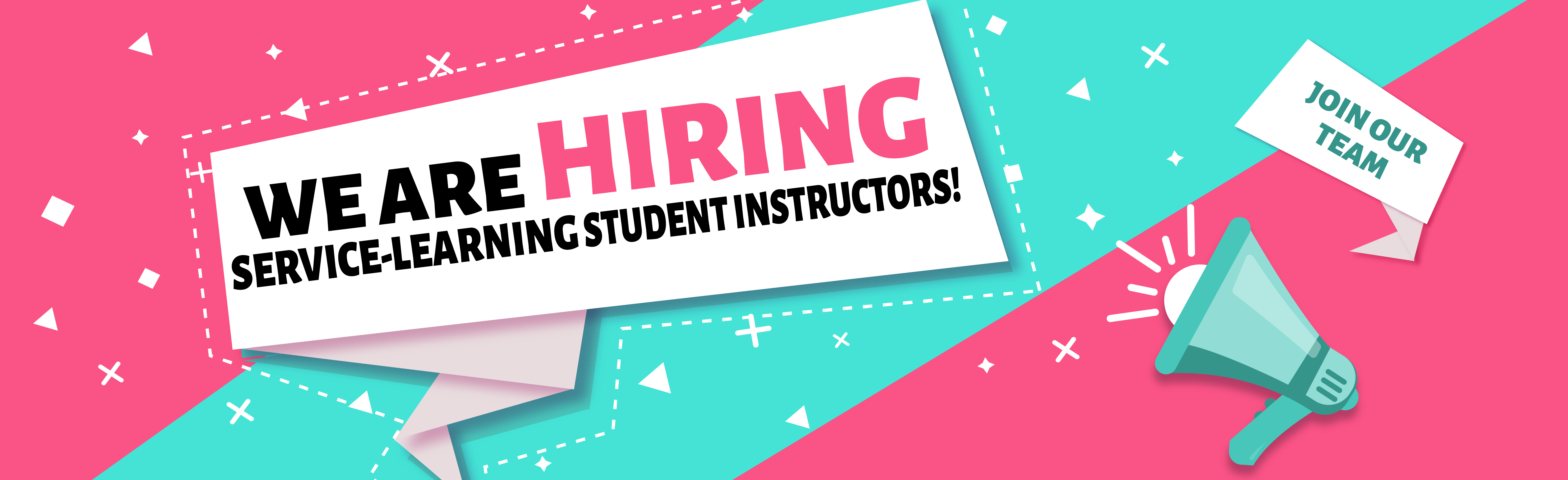 We are hiring student instructors!